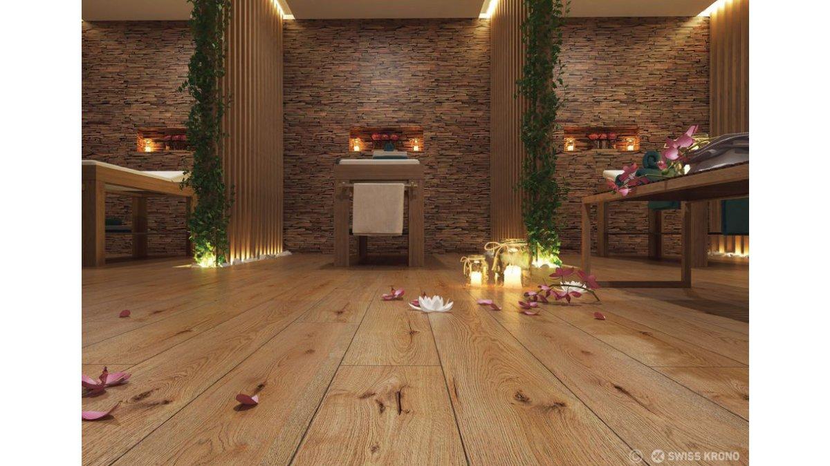 sàn gỗ Inovar lát cho Spa