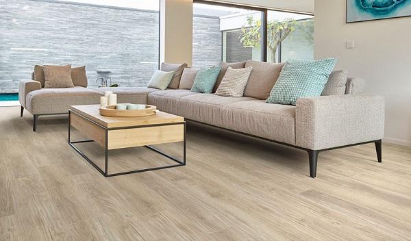 Sàn gỗ Việt Nam lát phòng khách
